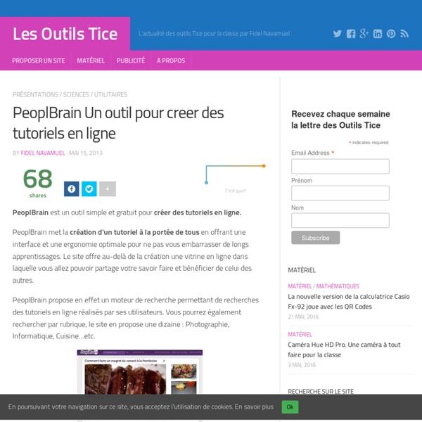 PeoplBrain Un outil pour creer des tutoriels en ligne