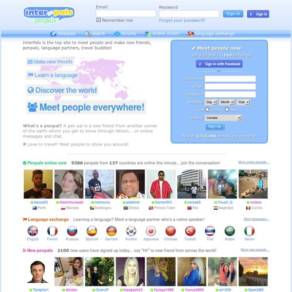 Penpals dating sites