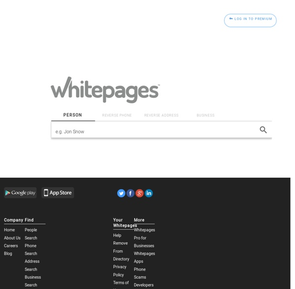 The Official WhitePages - Find People for Free