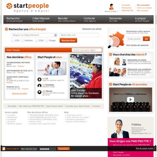 Start People - Agence d'emploi en CDI,CDD et travail temporaire - Agence d'emploi en CDI,CDD et travail temporaire