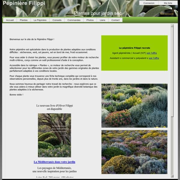 Pepiniere Filippi plantes pour jardins secs