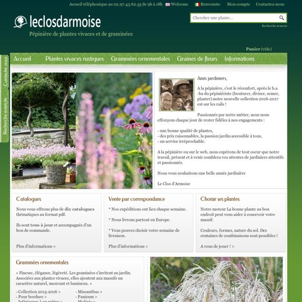 Pépinière de plantes vivaces et de graminées - Le Clos d'Armoise - Pépinière Le Clos d'Armoise