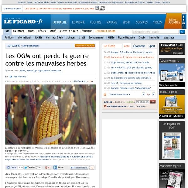 Environnement : Les OGM ont perdu la guerre contre les mauvaises herbes