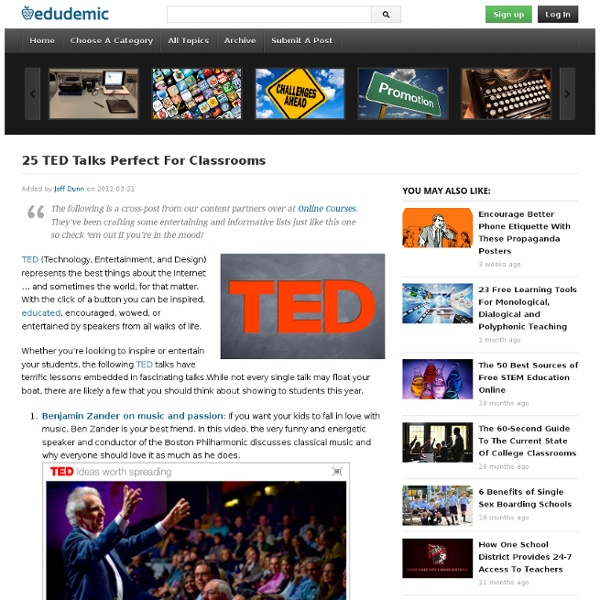 25 TED Talks Perfect For Classrooms