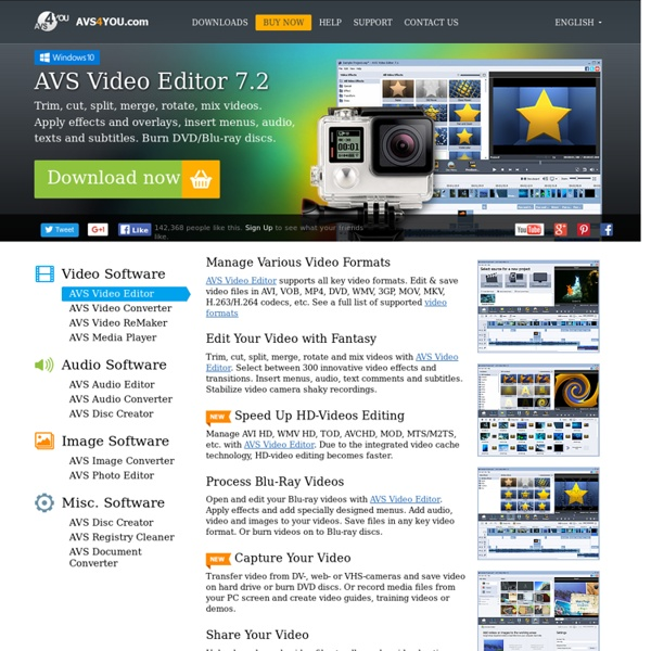 AVS Video Editor: perfect for home video editing. Edit video easily!