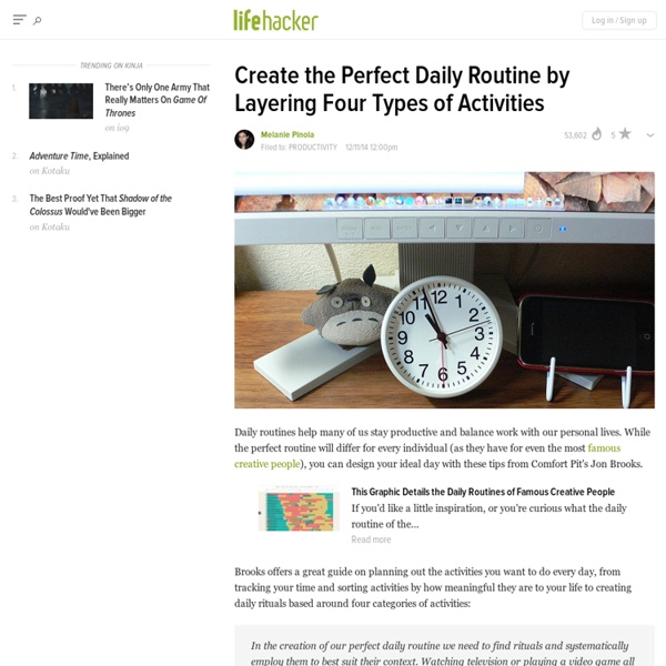 Create the Perfect Daily Routine by Layering Four Types of Activities