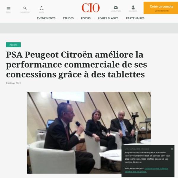 PSA Peugeot Citroën améliore la performance commerciale de ses concessions grâce à des tablettes