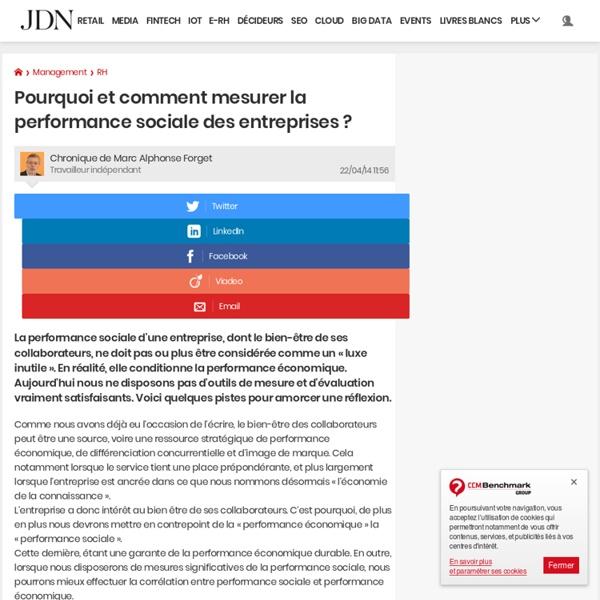 Pourquoi et comment mesurer la performance sociale des entreprises?
