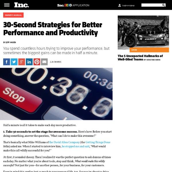 30-Second Productivity Strategies