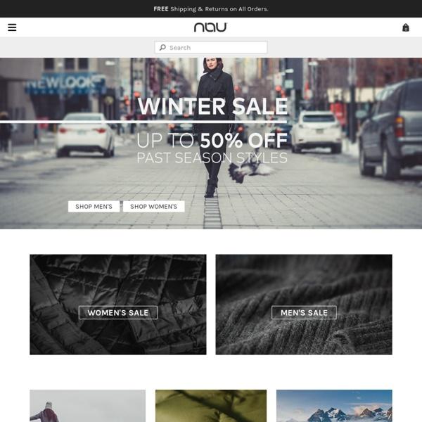 Nau.com: sustainable urban + outdoor apparel