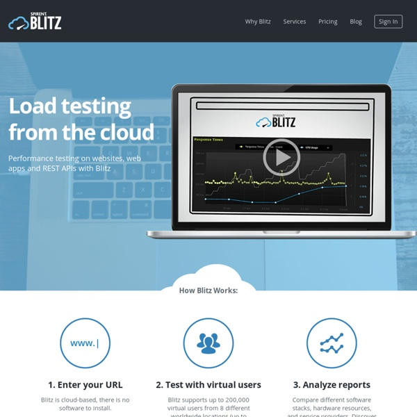 Blitz - Load and Performance Testing from the Cloud