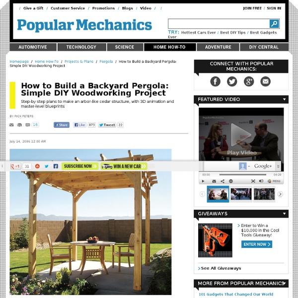 How to Build a Pergola - DIY Building a Pergola