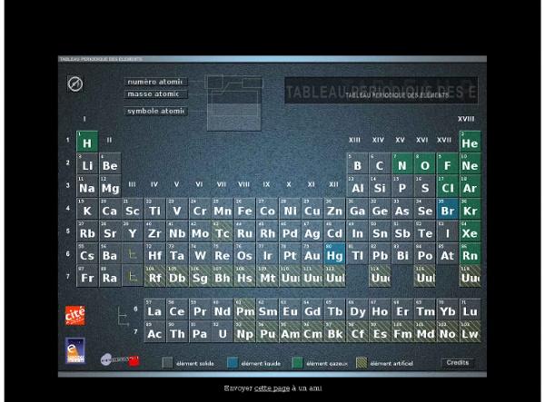 Tableau periodique des elements - Mendeleiev - Cité des Sciences et de l'Industrie