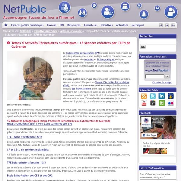 Temps d'Activités Périscolaires numériques : 16 séances créatives par l'EPN de Guérande