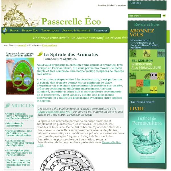 La Spirale des Aromates - Permaculture appliquée - Permaculture