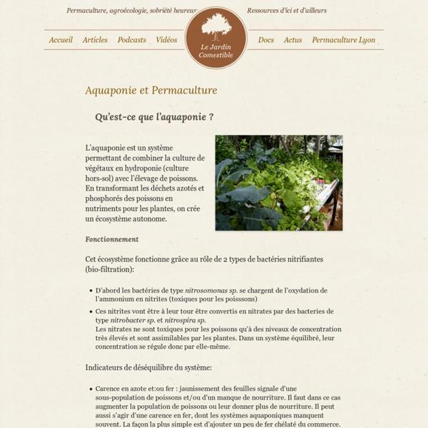 Bien-aimé Aquaponie et Permaculture - Le Jardin ComestibleLe Jardin  FU15