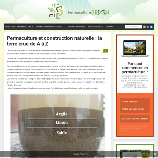 permaculture et construction naturelle la terre crue de a z pearltrees. Black Bedroom Furniture Sets. Home Design Ideas