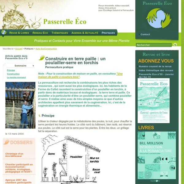 Construire en terre paille : un poulailler-serre en torchis - Permaculture - Auto EcoConstruction