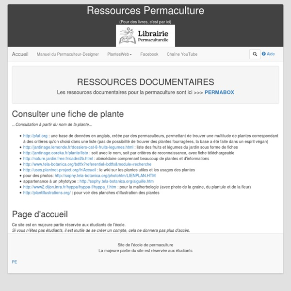 BLOG Ressources- Permaculture.fr