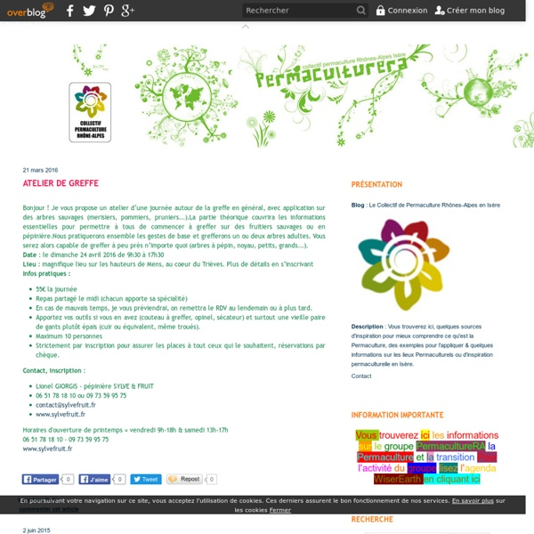 """Jardin des Bruyères - L'abondance de la… - Atelier """"Pratique… - S'inspirer de la… - Four solaire 0 € - Seedballs ou… - Le Collectif de Permaculture Rhônes-Alpes en Isère"""