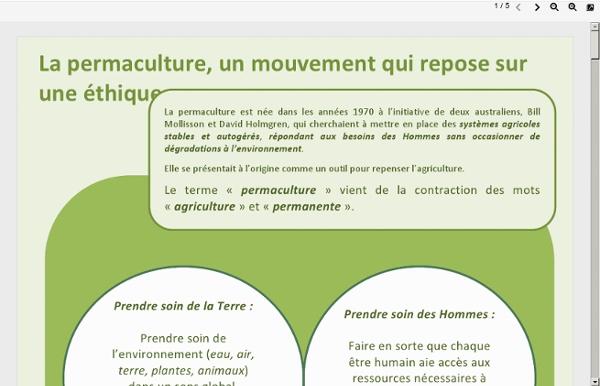 La permaculture, quelques éléments de réflexion