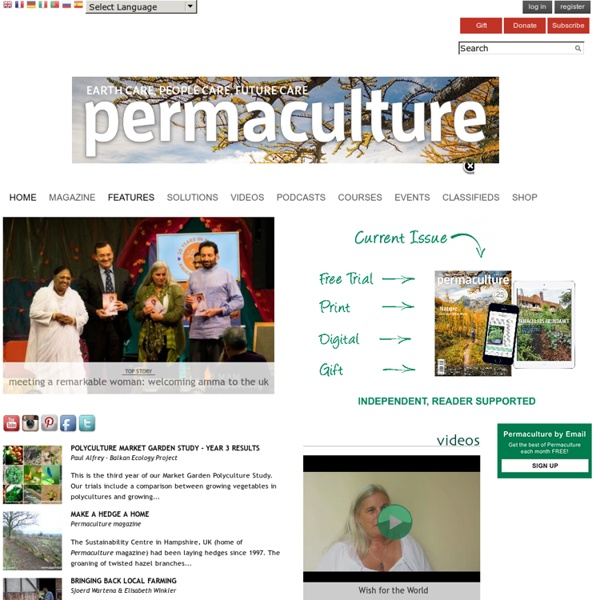 Permaculture Magazine - Inspiration for Sustainable Living