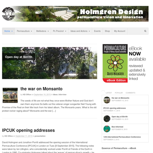 Holmgren Design - Permaculture Innovation and Vision