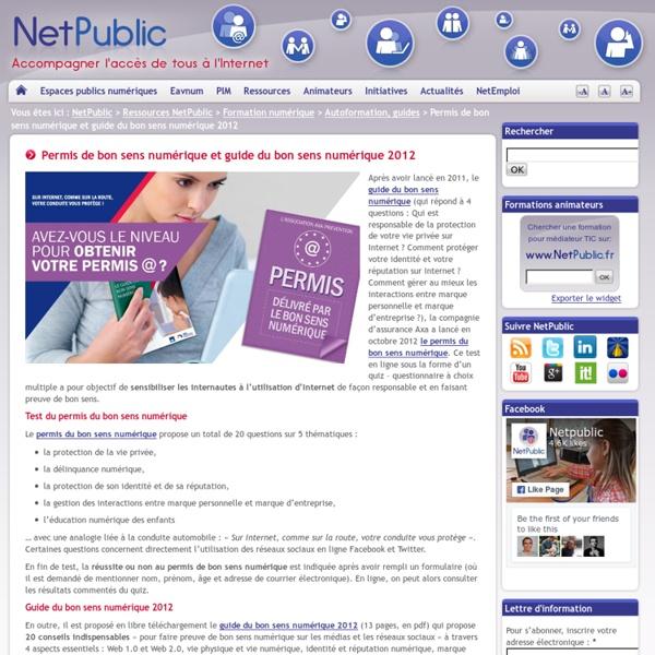 Permis de bon sens numérique et guide du bon sens numérique 2012
