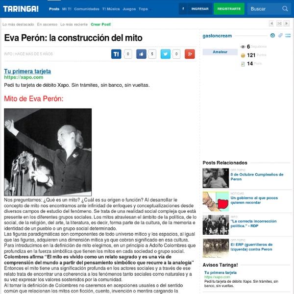 Eva Perón: la construcción del mito