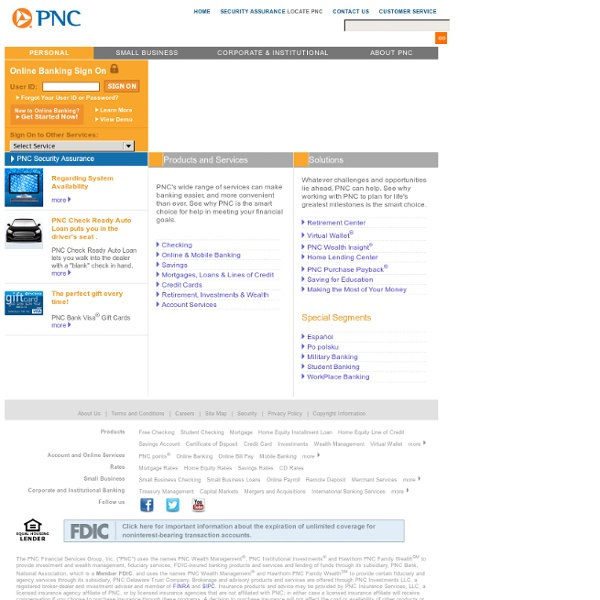 pnc bank online banking login