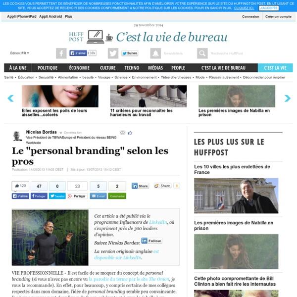 "Le ""personal branding"" selon les pros"