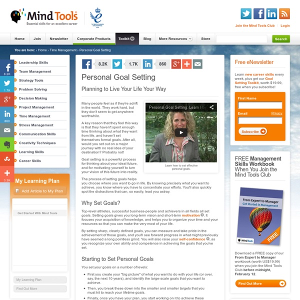Personal Goal Setting - Time Management Tools from MindTools.com