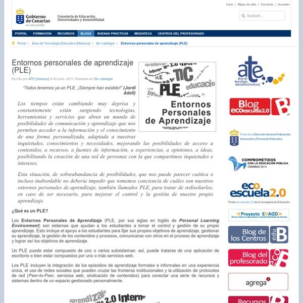 Blog eco Escuela 2.0 » Entornos personales de aprendizaje (PLE)