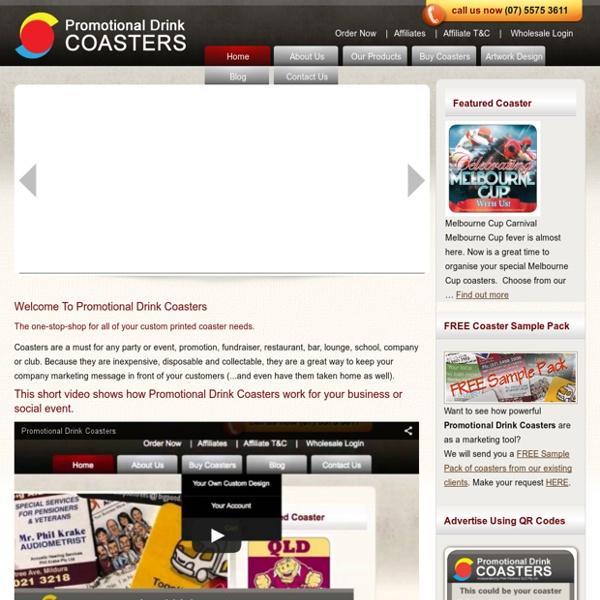 Custom Printed Coasters — Professional Drink Coasters And Printing