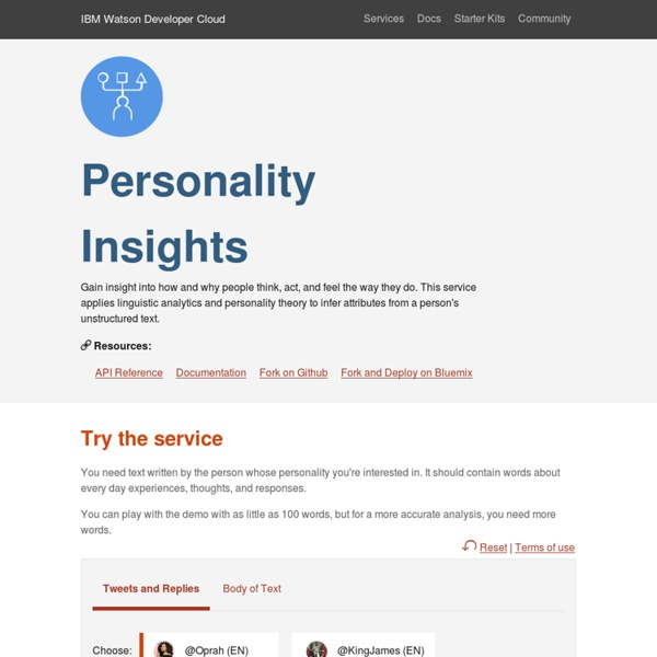 Personality Insights