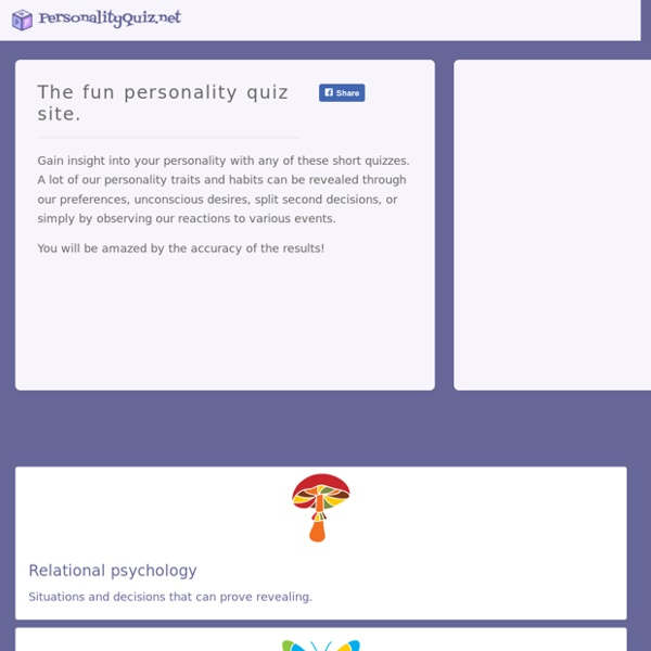 Personality Quiz Site Tests And Quizzes Pearltrees