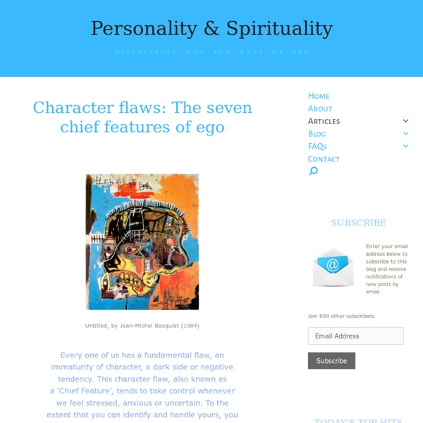 Character flaws: The seven chief features of ego - Personality & Spirituality