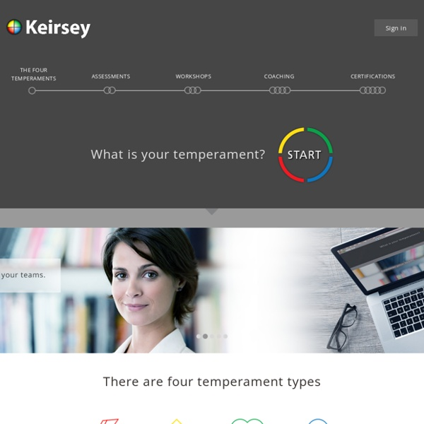 Personality Test - Keirsey Temperament Website