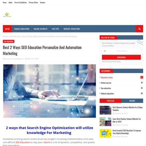 Best 2 Ways SEO Education Personalize And Automation Marketing