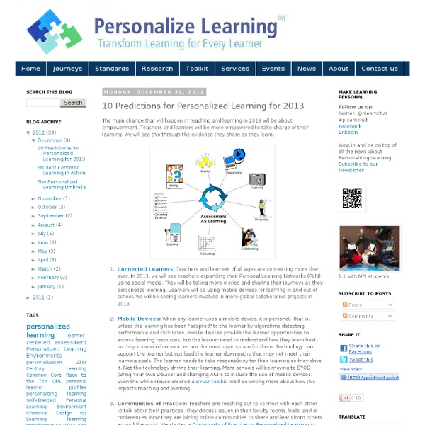 10 Predictions for Personalized Learning for 2013