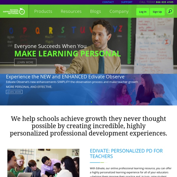 School Improvement Network, Professional Development for Educators and Teachers