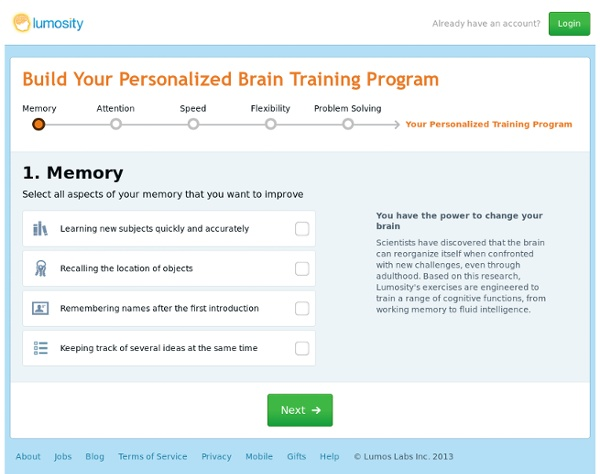 Build your Personalized Training Program