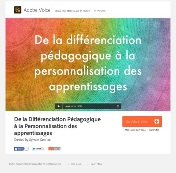 De la Différenciation Pédagogique à la Personnalisation des apprentissages