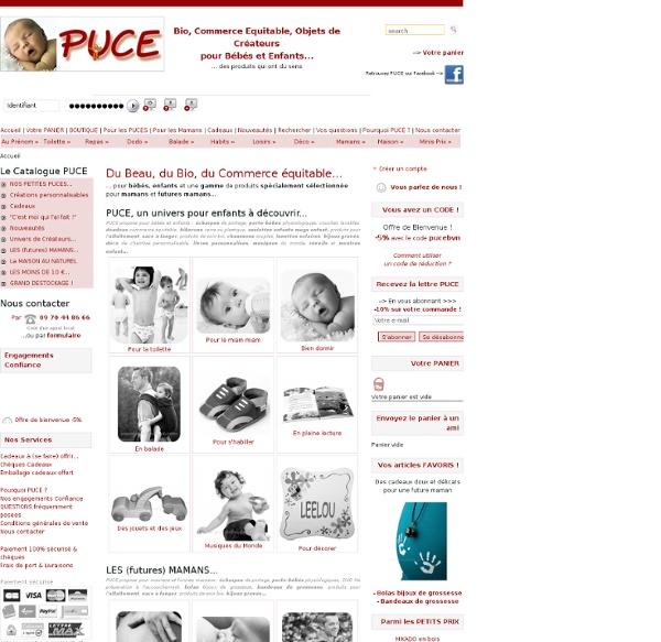 PUCE, Produits éthiques pour bébés et enfants - Accueil