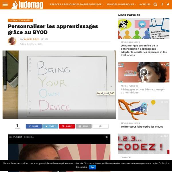 Personnaliser les apprentissages grâce au BYOD