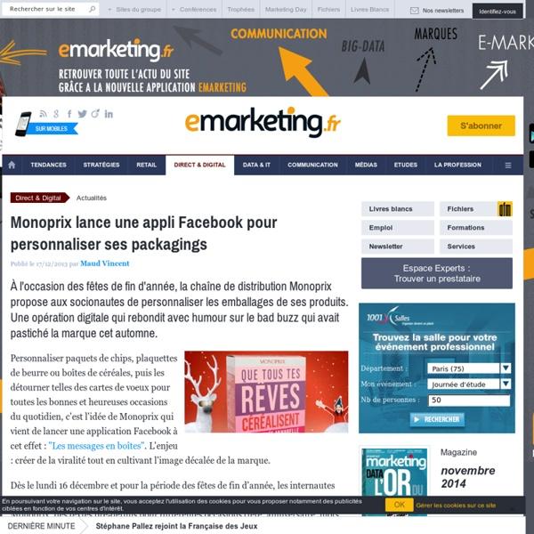 Monoprix lance une appli Facebook pour personnaliser ses packagings