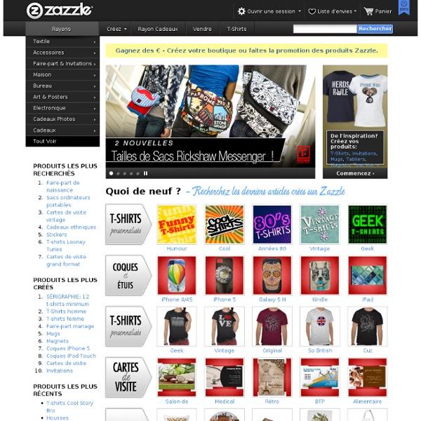 T-shirts personnalisés, cadeaux personnalisés, affiches, création artistique, et plus encore