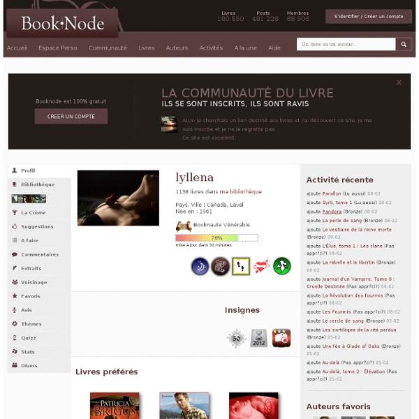 Page personnelle de lyllena sur Booknode, la communaut