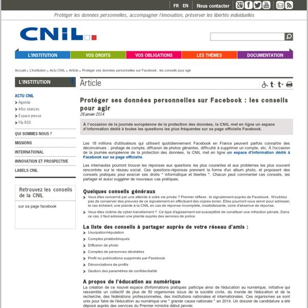 Protéger ses données personnelles sur Facebook: les conseils pour agir