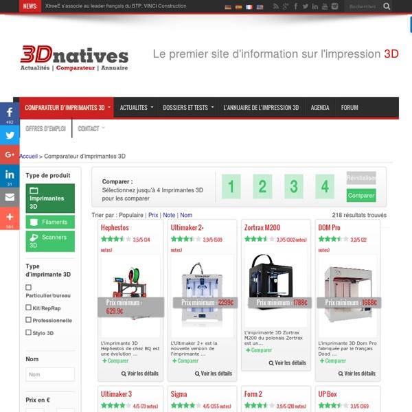 Comparateur d'imprimantes 3D : Les meilleurs prix, les dimensions, les fabricants...